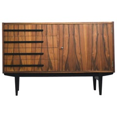 Vintage Polish Walnut 500-138/B Cabinet with Drawers, 1964