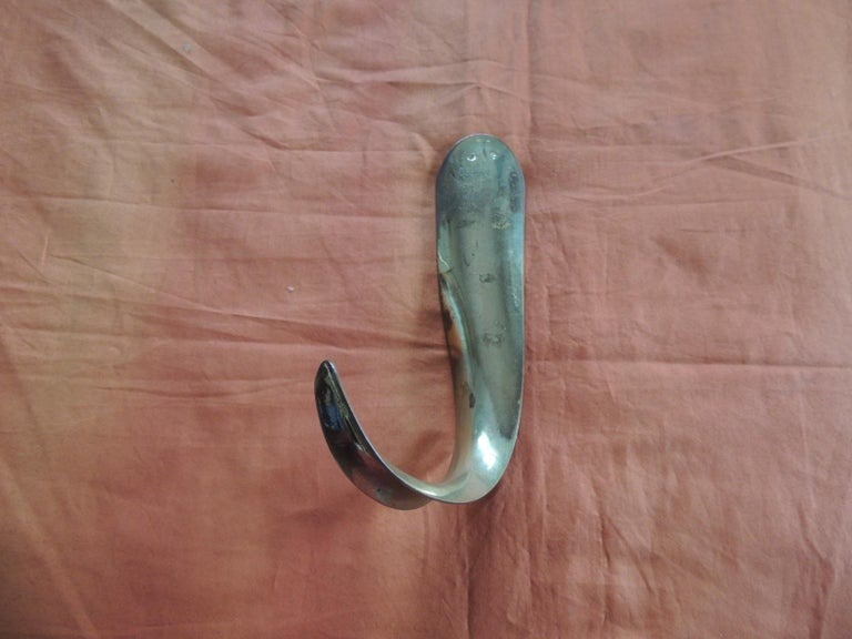 Bohemian Vintage Polished Brass Shoe Horn For Sale