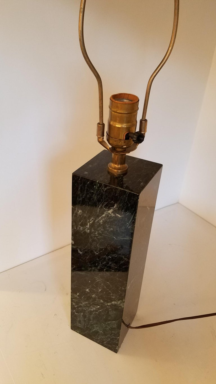 Modern Vintage Polished Marble Lamp For Sale