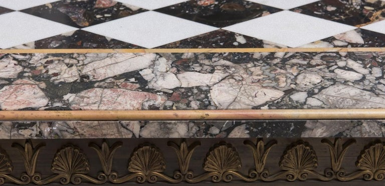 Italian Vintage Poly-Chrome Marble Table, Italy, Early 20th Century For Sale