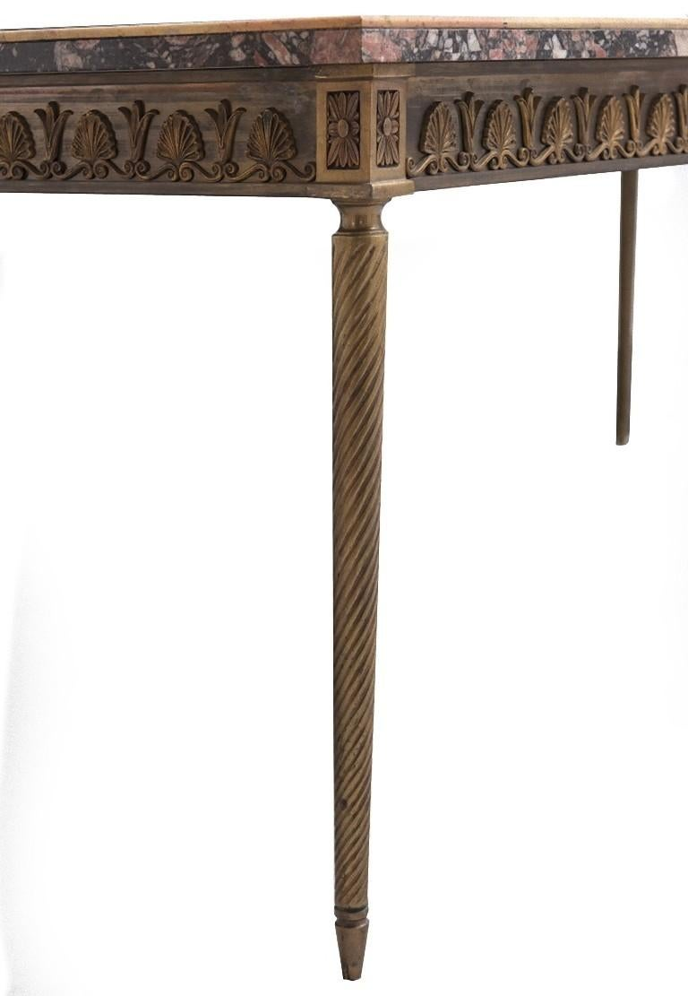 Inlay Vintage Poly-Chrome Marble Table, Italy, Early 20th Century For Sale
