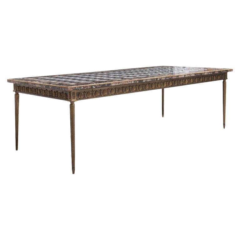 Vintage Poly-Chrome Marble Table, Italy, Early 20th Century For Sale