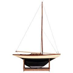"Vintage ""Pond Yacht"" Model Ship"