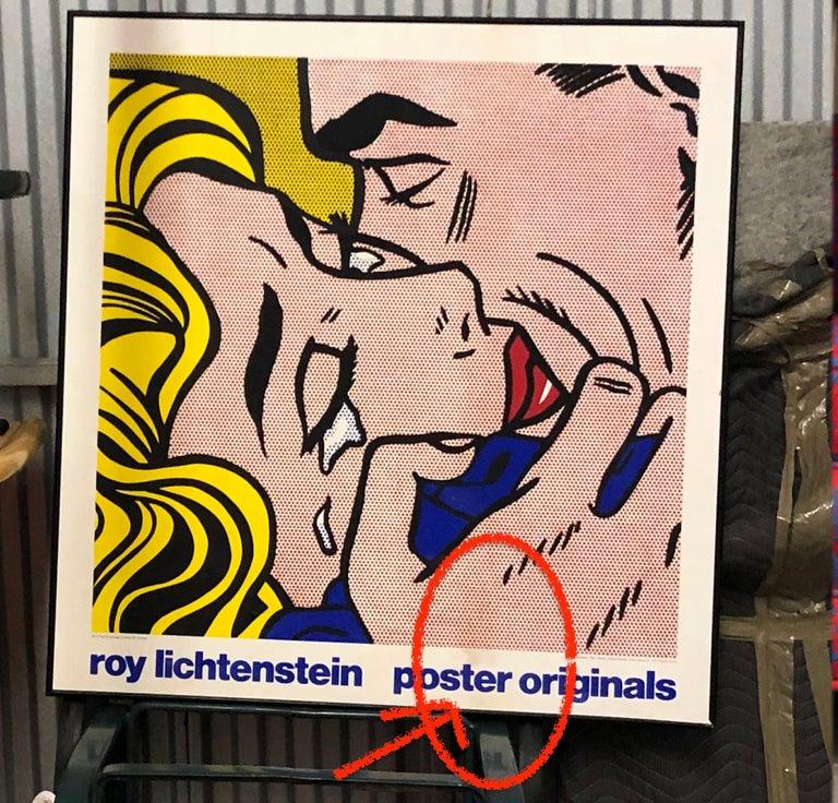 Vintage Pop Art exhibition screen print after Roy Lichtenstein's