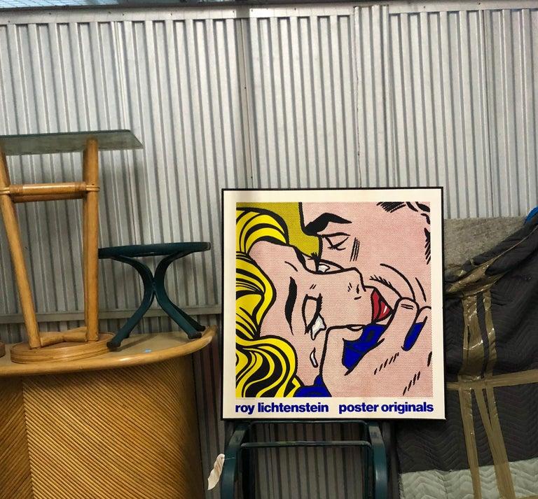 Mid-Century Modern Vintage Pop Art exhibition screen print after Roy Lichtenstein's