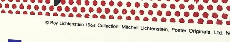 20th Century Vintage Pop Art exhibition screen print after Roy Lichtenstein's