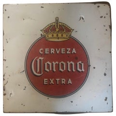 Vintage Porcelain Corona Beer Sign