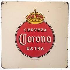Vintage Porcelain Corona Beer Sign