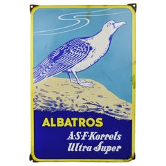 Vintage Porcelain Sign for Albatross Super Phosphate Fertilizer Granules, 1950s