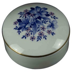 Vintage Porcelan Jewel Case, Italy Mid-20th Century