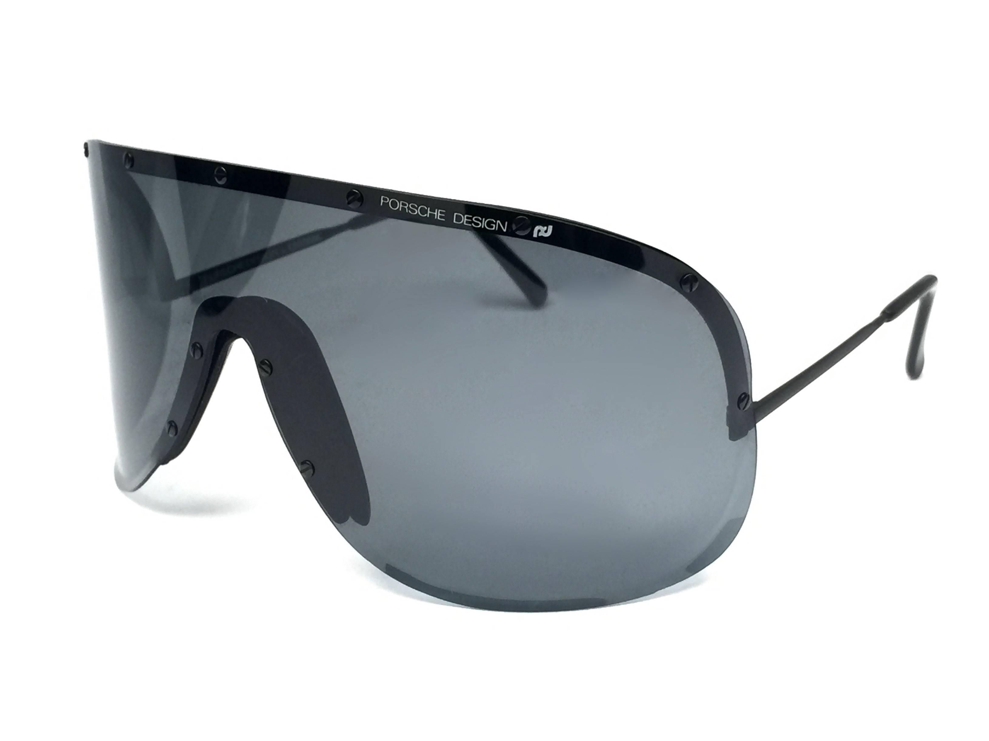 daeace9076 Porsche Design 5620 90 Vintage Shield Yoko Ono Sunglasses