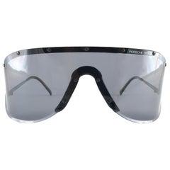 Vintage Porsche Design 5640 90 Small Size Shield Yoko Ono Sunglasses, 1980s