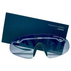 Vintage Porsche Design 5692 Silver Foldable Flat Light Sunglasses 1990s