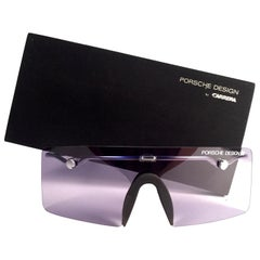 Vintage Porsche Design 5693 Silver Foldable Flat Light Sunglasses 1990s