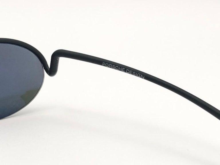 Women's or Men's Vintage Porsche Design P0102 Black Matte S Frame 1980s Large Sunglasses Austria. For Sale