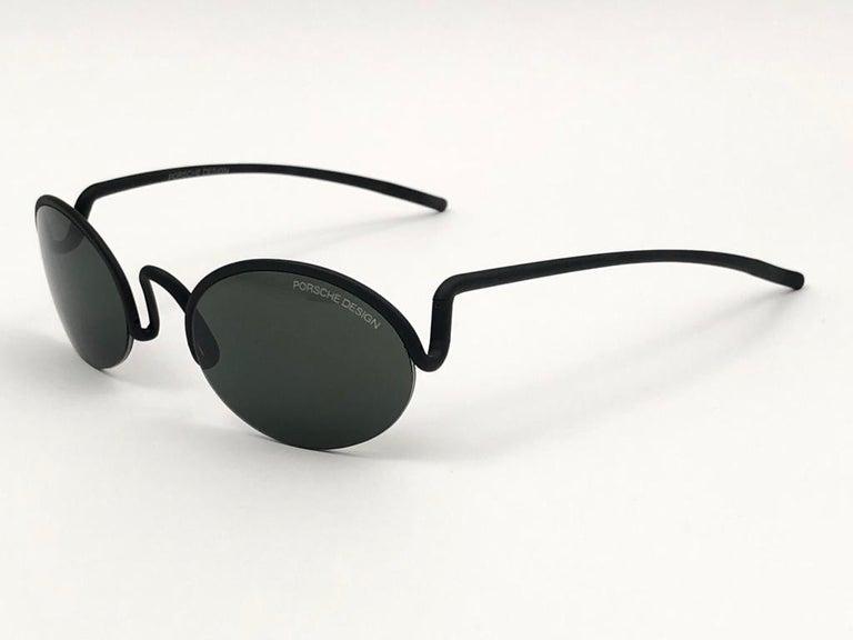 Vintage Porsche Design P0102 Black Matte S Frame 1980s Large Sunglasses Austria. For Sale 2