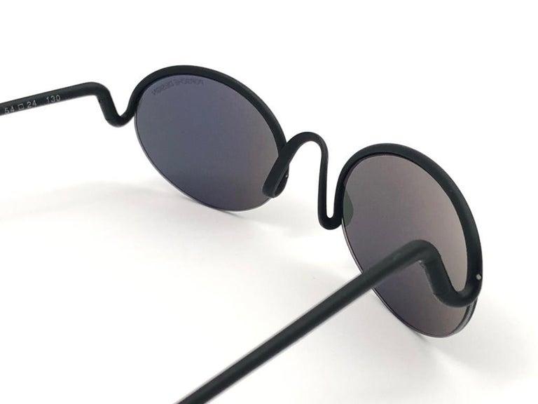 Vintage Porsche Design P0102 Black Matte S Frame 1980s Large Sunglasses Austria. For Sale 3