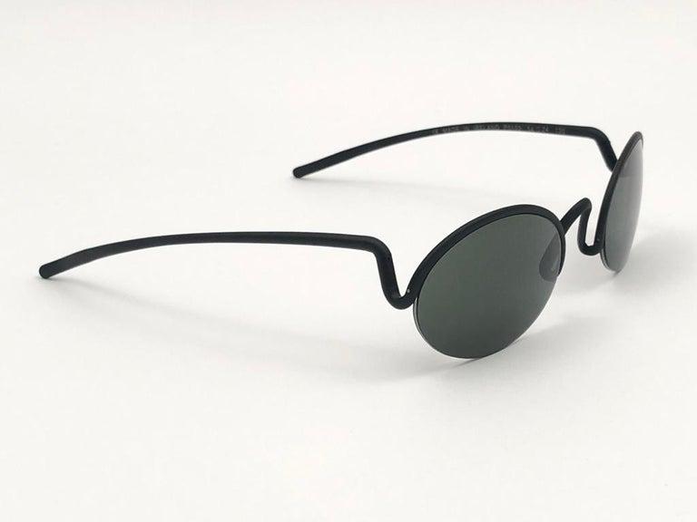 Vintage Porsche Design P0102 Black Matte S Frame 1980s Large Sunglasses Austria. For Sale 4