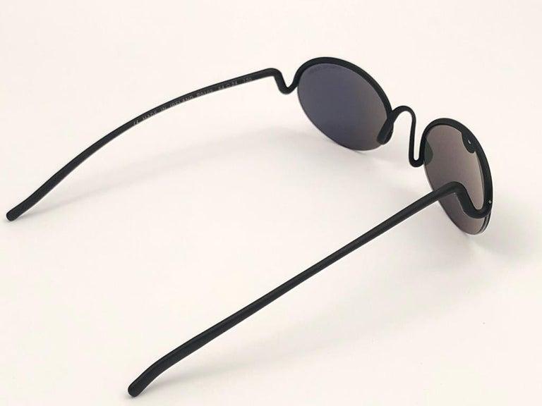 Vintage Porsche Design P0102 Black Matte S Frame 1980s Large Sunglasses Austria. For Sale 5