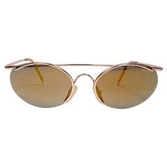 Vintage Porsche Design PO130 Gold Mirror S Frame 1980s Large Sunglasses Austria.