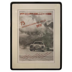 Vintage Porsche Signed and Number Lithograph Suite by the Iconic Erich Strenger