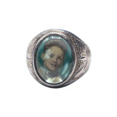 Vintage Portrait Ring of Young Boy