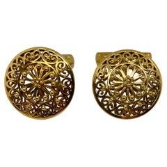 Vintage Portuguese Cufflinks in Solid .800 '19.2 Karat' Gold