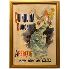 Vintage Poster Framed Quinquina Dubonnet Aperitif Dans Tous Les Cafe's