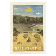 Vintage Poster Issued by the Suriname Tourist Bureau, circa 1950