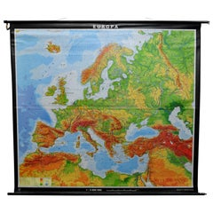Vintage Poster Print European Rollable Map Wall Chart