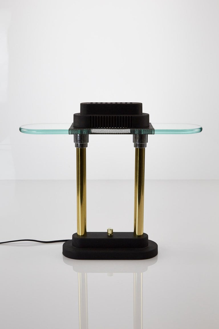 Vintage Postmodern Bankers Lamp by Robert Sonneman for George Kovacs, 1980s In Good Condition For Sale In Los Angeles, CA