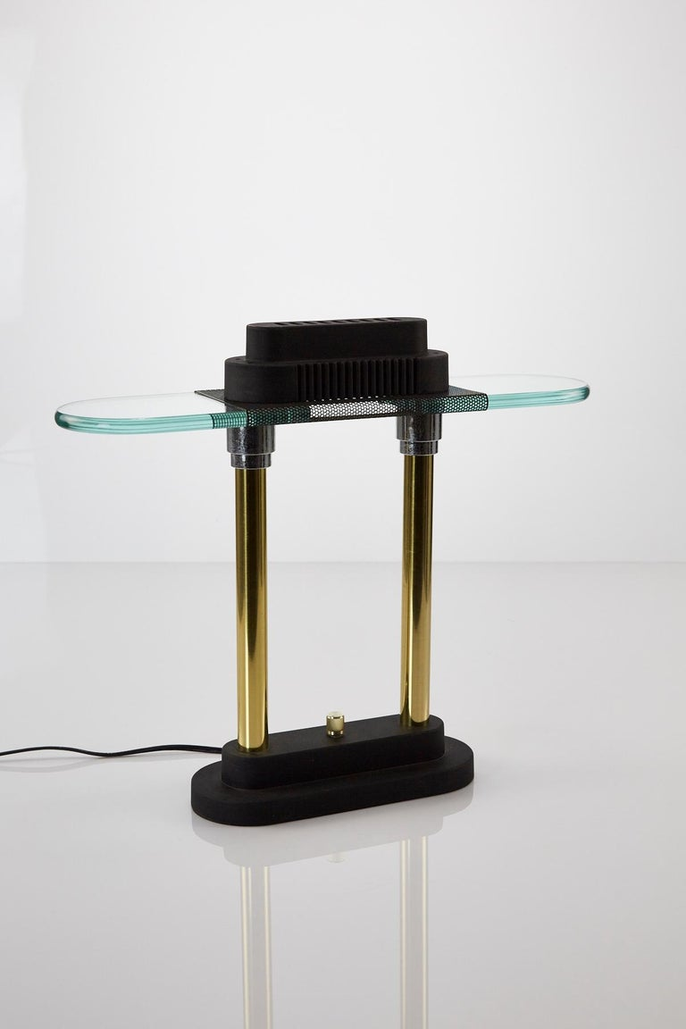Late 20th Century Vintage Postmodern Bankers Lamp by Robert Sonneman for George Kovacs, 1980s For Sale