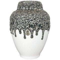 Vintage Pottery Fat Lava Vase Made by ES EMONS SÖHNE Ceramic, Germany, 1960s