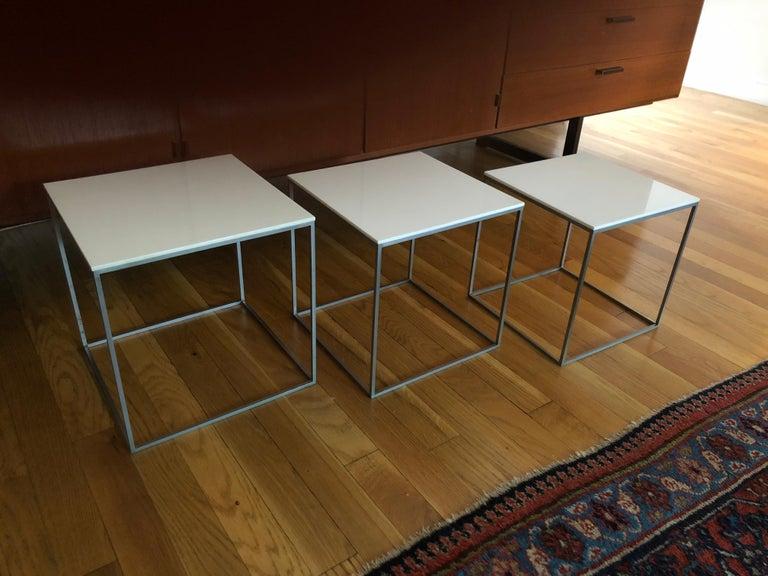 Mid-Century Modern Vintage Poul Kjaerholm Nesting Tables For Sale