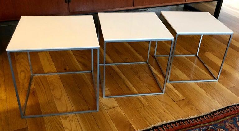 Danish Vintage Poul Kjaerholm Nesting Tables For Sale
