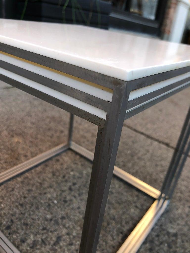 Vintage Poul Kjaerholm Nesting Tables In Good Condition For Sale In Hudson, NY