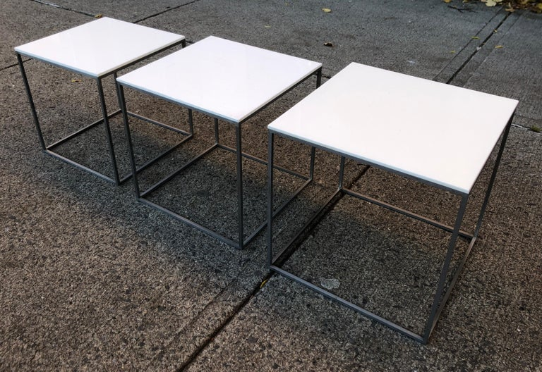 Mid-20th Century Vintage Poul Kjaerholm Nesting Tables For Sale