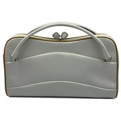 Vintage Prada White Leather Bag