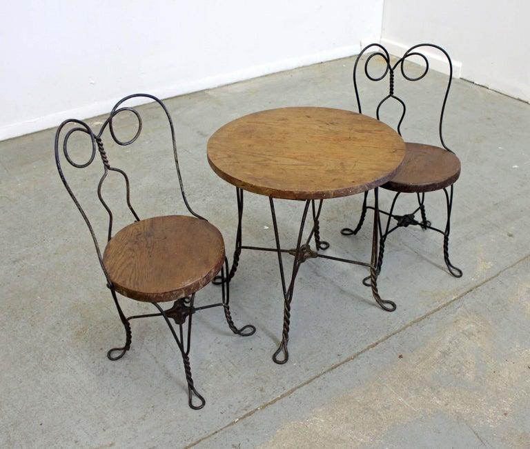 Sensational Vintage Primitive Ice Cream Parlor Childrens Table Chair Set Pabps2019 Chair Design Images Pabps2019Com