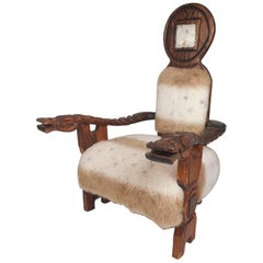 Vintage Primitive Style Witco Lounge Chair