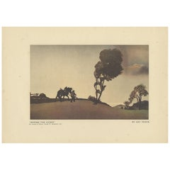 Vintage Print 'Before the Storm' Made after Leo Frank, 1927
