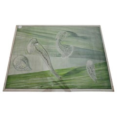 Vintage Print Botanical Wall Chart Microorganism Microscopial