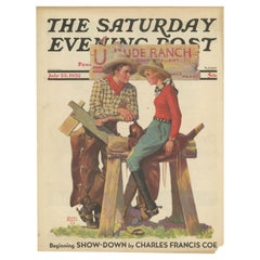 Vintage Print of Ranchers 'The Saturday Evening Post' '1932'