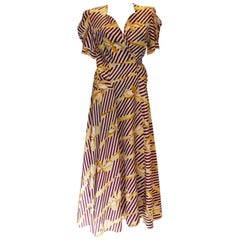 Vintage Printed Wrap Around Dress