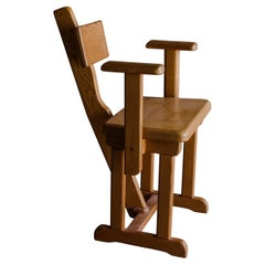 Vintage Prototype Chair from Sweden in Pine, Circa 1960