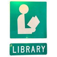 Vintage Public Library Sign