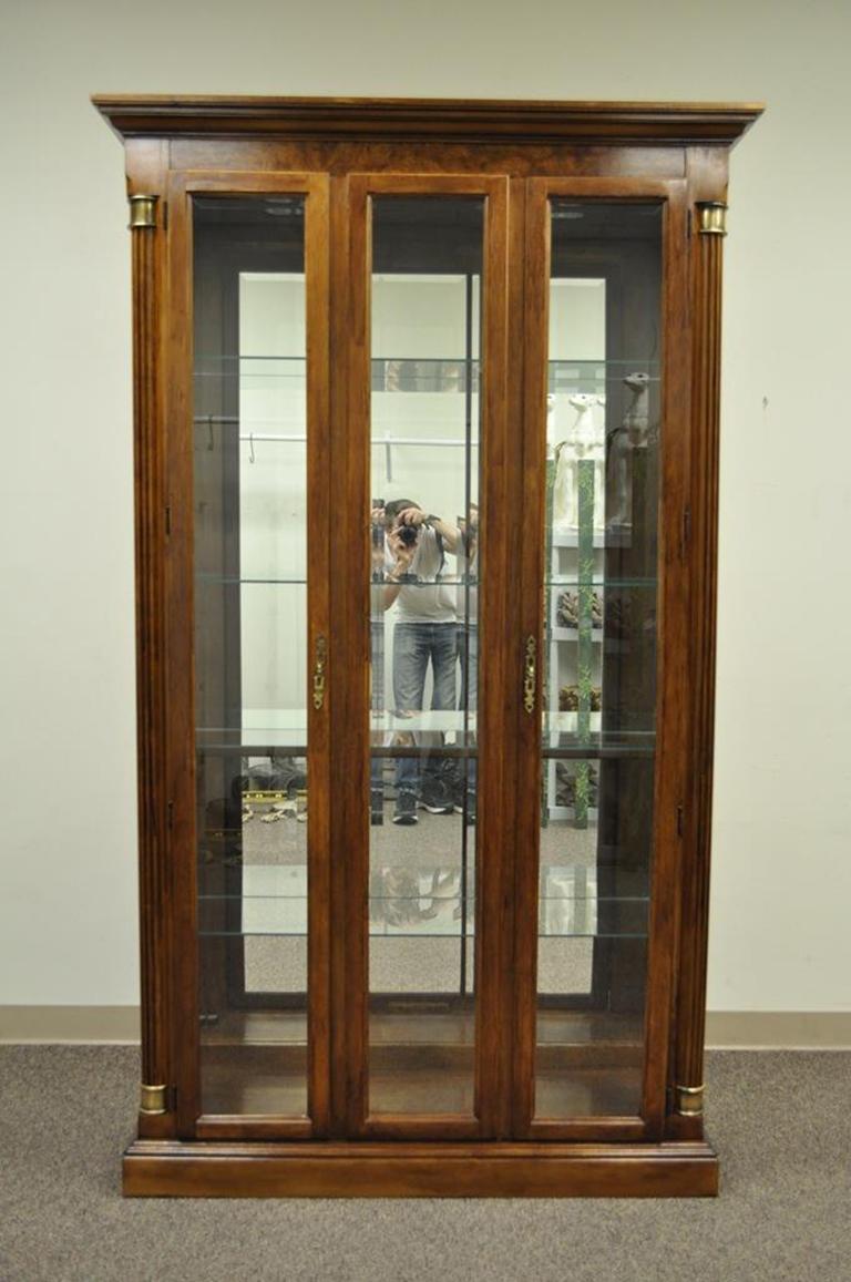 Vintage Pulaski Cherry Lighted Mirrored Curio Display