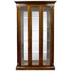 Vintage Pulaski Cherry Lighted Mirrored Curio Display Cabinet Bookcase