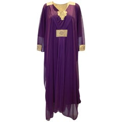 Vintage Purple and Gold Kaftan