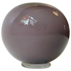 Vintage Purple and White Ball Vase from Holmegaard, 1984